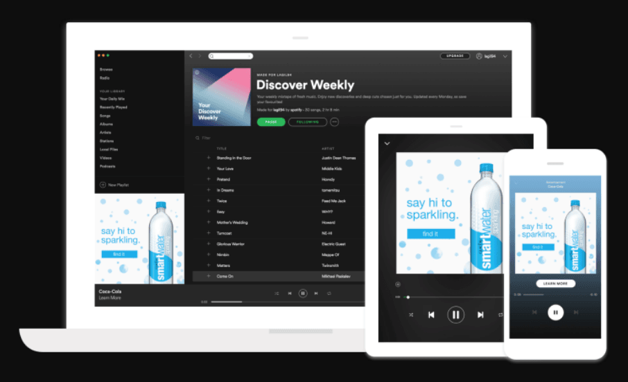 Spotify audio advertentie