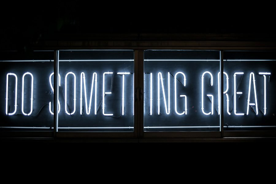 'do something great' in neon letters
