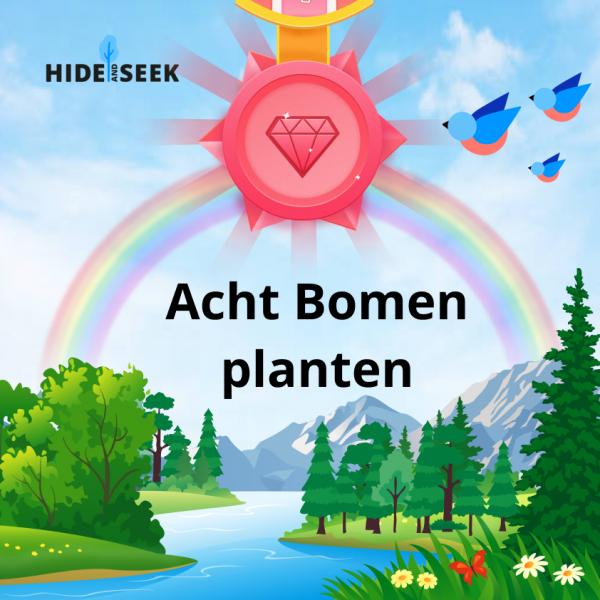 8 bomen planten certificaat