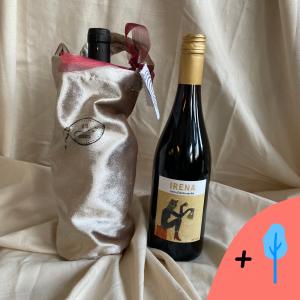 rode wijn met wijntas