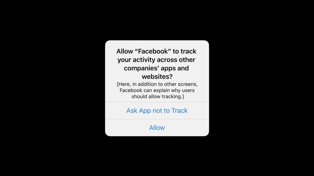 Apple iOS 14's new Tracking Transparency Prompt