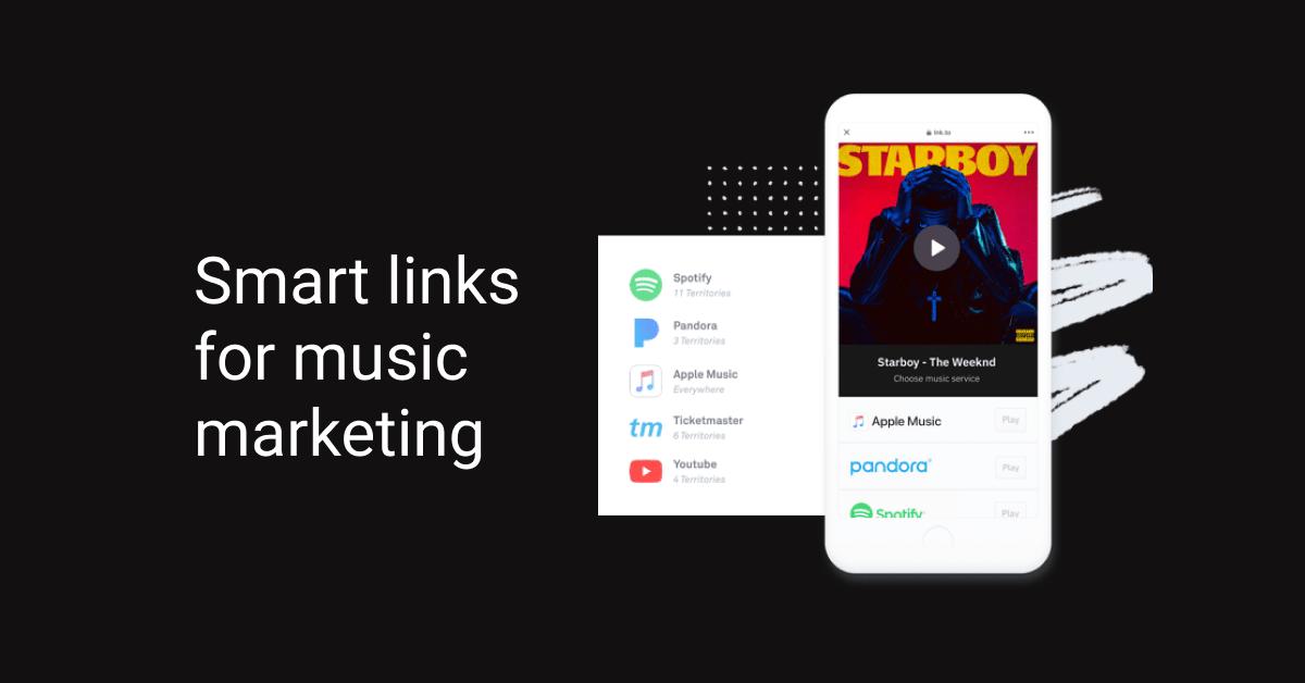 Smart links for music marketing