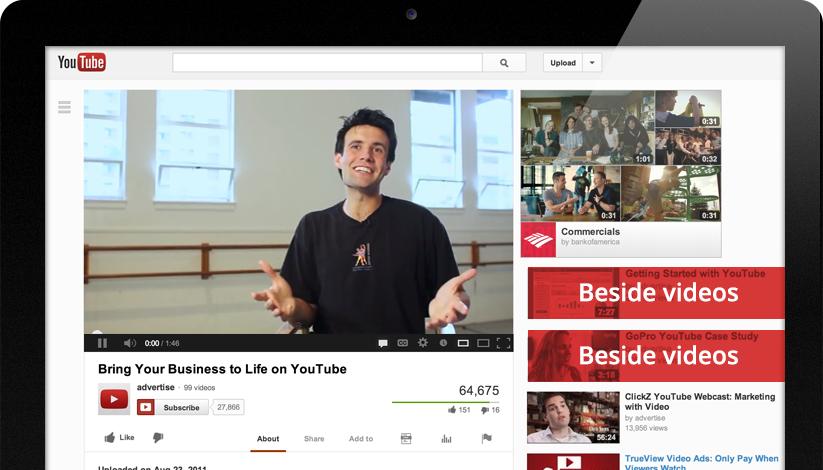 YouTube TrueView Videoadvertentie: In-Display