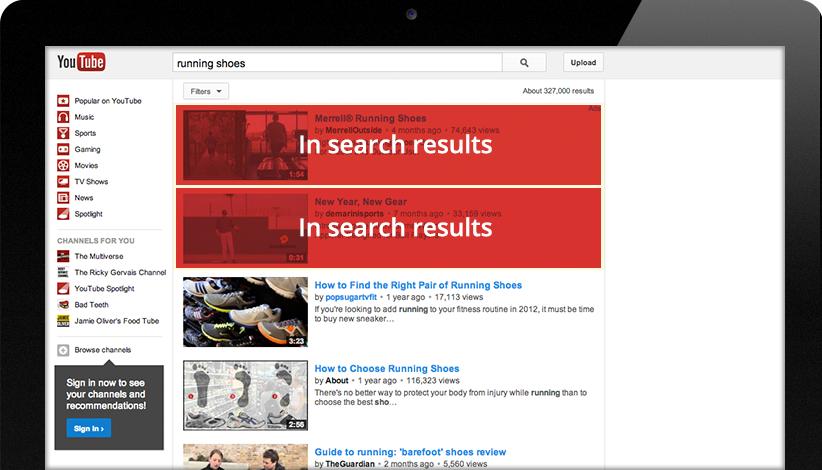 YouTube TrueView Videoadvertentie: In-Display (voorheen In-Search)